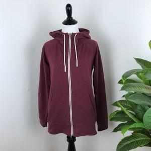 Lucy athletic maroon zip up hoodie